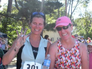 Julie and I after the Appleman Triathlon